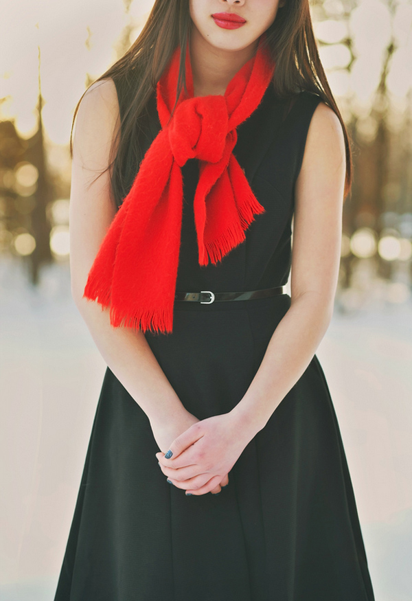 Red Scarf by Jennie Eng